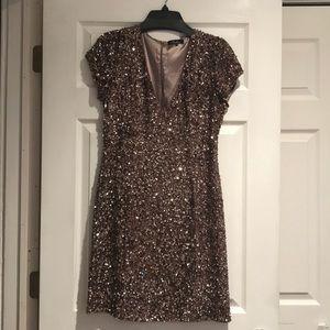 Parker rose gold sequin dress